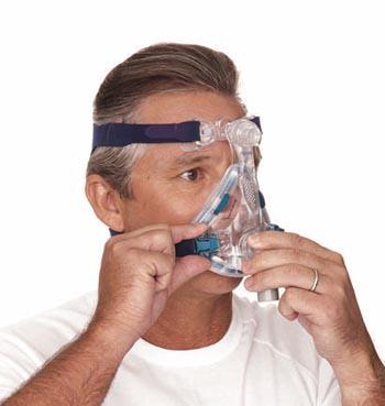 Masque facial Mirage Quattro en action