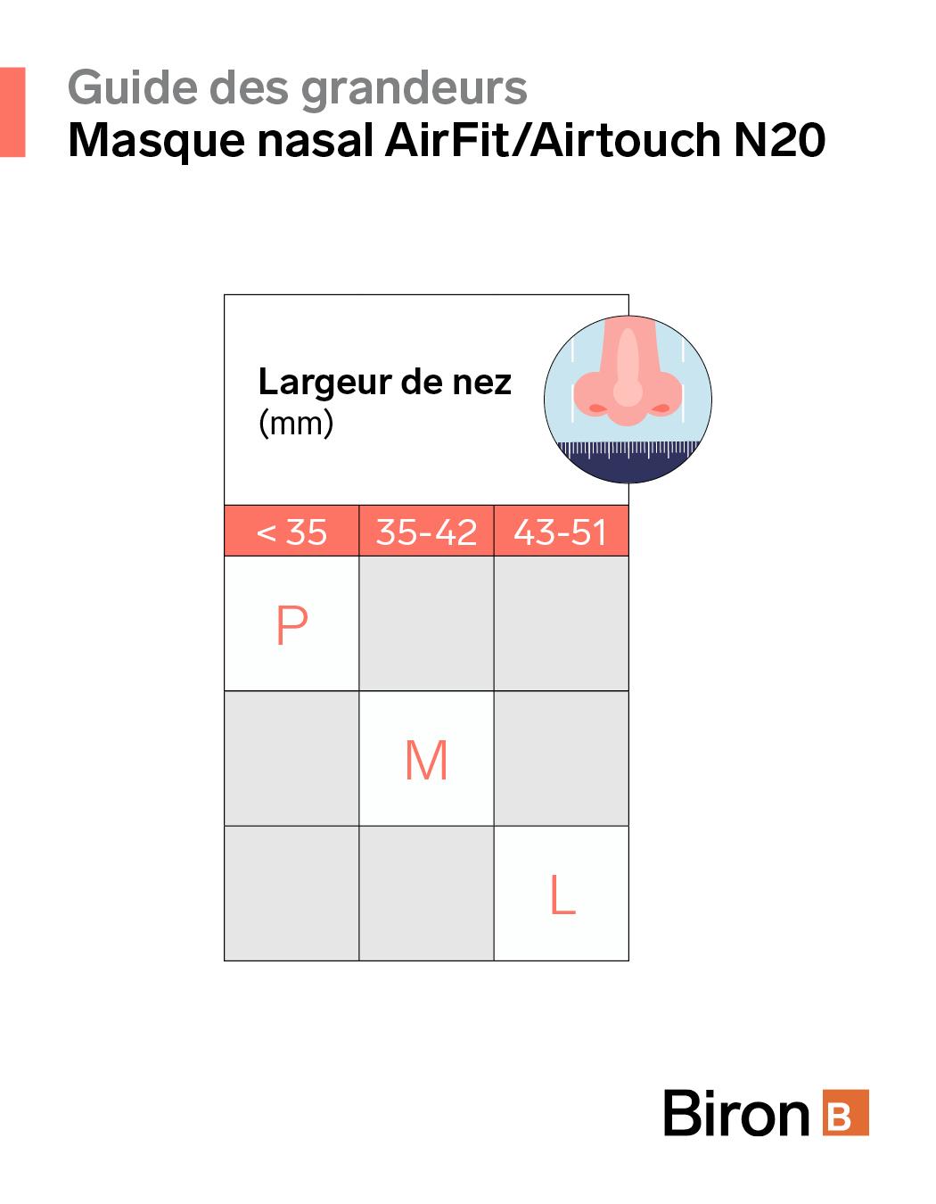 Image de Masque nasal AirTouch N20